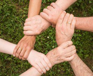 Unterstützende Hände